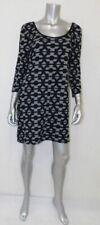 DEREK HEART NWT Black/Gray Geometric Pattern Stretch Ponte Shift Dress sz XL