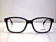 Authentic PRADA VPR01O 1AB-1O1 Black Eyeglass DEMO Frame Dummy Lens $299