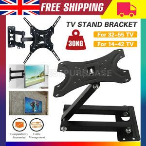 TV Wall Bracket Mount Tilt & Swivel for 32 37 40 42 43 50 55 Inch Monitor LCD