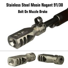 Stainless Steel Mosin Nagant 91/30 Muzzle Brake Bolt on Tanker Competition