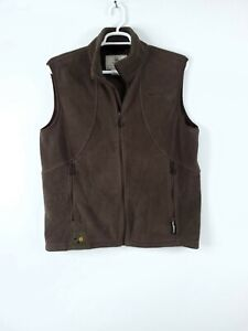 Beretta Brown Fleece Polartec Full Zip Vest Modular System 2 Men's XL