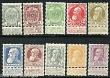 Belgium Sc#82/91 Cob#74/80, 81/83 Mint Hinged