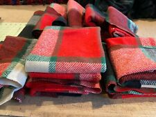 Thick Wool Fabric Remnants - Christmas Tartan. Condition is Used. Shipped