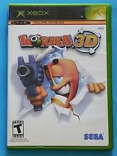 Worms 3D (Microsoft Xbox, 2005) Complete! Tested, Works!