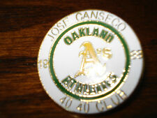 Oakland A's Jose Canseco 40 40 Club - 1988 Lapel - Hat Collectors Pin