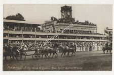 Arrival Of King & Queen Racing At Ascot Vintage RP Postcard 685b