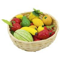 frutas en la cesta 51661 GOKI hortalizas de madera 23 Partes Tienda de juguete