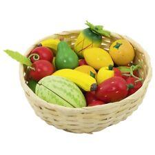 Obst im Korb 51661 Goki Holzgemüse 23 Teile  Kaufladen Kinder-Küche