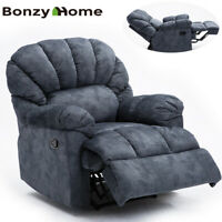 Oversize Recliner Chair Thickened Wide Backrest Seat Manual Sofa Comfy  Velvet