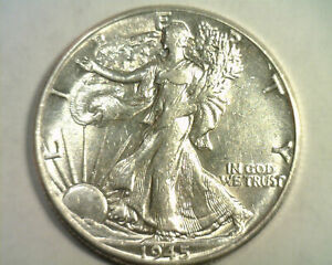 1945 WALKING LIBERTY HALF CHOICE ABOUT UNCIRCULATED CH. AU NICE ORIGINAL COIN