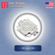1pcs 10w High Power 4pin Square Rgb Common Anode Smd Led Cob Lamp Chip Lights