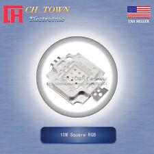 1Pcs 10W Watt High Power 4Pin Square RGB Common Anode SMD LED Blub Lamp Chip