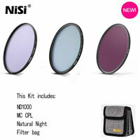 NiSi 52 58 62 67 72 77 82mm Circular Filter Kit MC CPL+Natural Night +ND1000