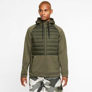 Mens's Nike Therma Winterized Zip Hoodie Jacket(Cargo Khaki)(BV6298-325)SZ XL