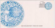 (K94-52) 1993 NZ FDC $1.00 NZ post black Kiwis (tone spot)(AW)