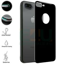 For Apple iPhone 8 Plus Back Rear Tempered Glass Screen Protector 5D Black