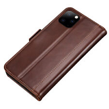 Luxury PU Leather Magnetic Flip Case Card Holder For iPhone 11 - Brown
