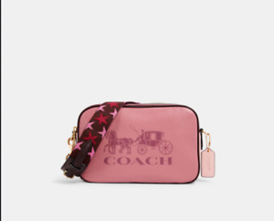 NWT 100% Authentic Coach Jes Leather Double Zip Crossbody Bag F75818 Pink $328