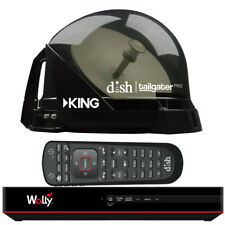 KING TAILGATER® PRO Premium Satellite TV Antenna with DISH® Wally® HD Receiver