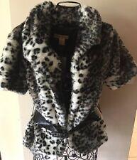 Paris Blues Leopard Short Sleeve Jacket W Belt Size L Run Small Fit M New W Tag
