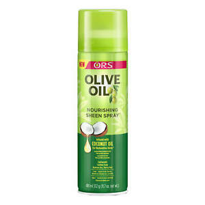 ORS Olive Oil Nourishing Sheen Hair Spray infused with COCONUT Oil  472ml