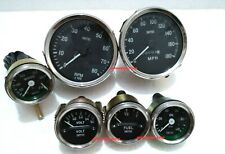 Smiths-52mm-Kit- Temp-Oil Fuel Volt Gauge Mph Speedometer Tachometer-Replica