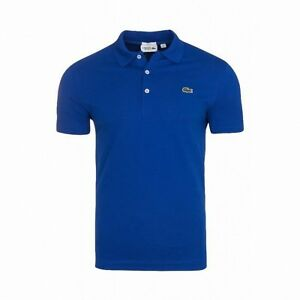 Lacoste YH480100 Men's Slim Fit Golf Tennis Polo Shirt Blue UK L FR 5 £95 40%OFF