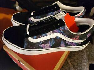 Vans Warped Floral Old Skool Shoes purple black Sneakers VN0A4BV5T7R1 M8.5/W10