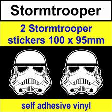 2 Stormtrooper Stickers Star Wars Funny Novelty VW DUB JDM bike Car Decal