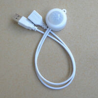 Mini LED PIR Infrared Motion Sensor Detector Closet Underbed USB Switch White