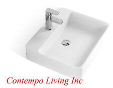 New listing 22-Inch Stone Resin Solid Surface Rectangular Shape Bathroom Vanity Vessel Sink