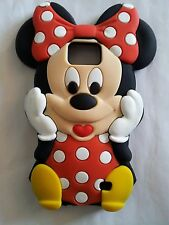 Es Phonecaseonline Coque Silicone Minnie Red pour Samsung Galaxy S2 I9100