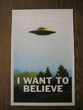 "The X-Files - I Want To Believe UFO  11"" X 17""  Poster Print - B2G1F"