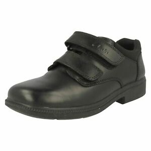 Boys Clarks Deaton Inf Black Leather Smart strap school Shoes UK various sizes