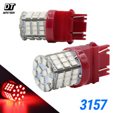 3157/3156 LED Brake Light Bulbs Red Tail Rear Stop High Power Tail Lamp Pair 40W