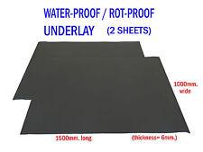 Underfelt Underlay Waterproof to suit moulded vinyl & carpet installation 2ROLLS