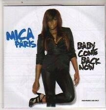 (DB634) Mica Paris, Baby Come Back Now - 2009 DJ CD