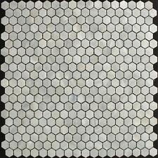 (9 Mosaic Piece Sample) River Bed Natural Shell Mosaic Tiles - Hexagon White