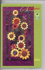 "Sunflowers Large Pattern Bee Creative Studio 27""x52"" Dated 2004"