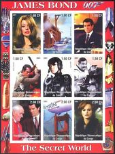 Congo James Bond/Secret World/Cinema/Films/Airship/Boat imperf sht (cs) (s5505a)