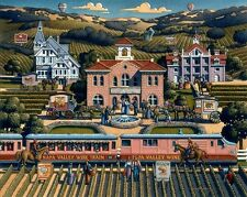 DOWDLE FOLK ART COLLECTORS JIGSAW PUZZLE NAPA VALLEY WINE COUNTRY 1000 PCS