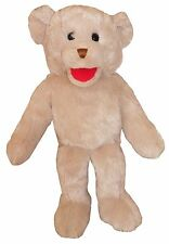 """Puppet teddy 15"""" Ventriloquist.Play,Tell storys,Educational.Moving mouth & hands"""