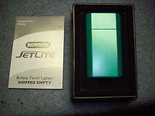 Ronson Jet Lite Green Butane Cigarette Lighter, new in box