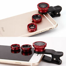 Universal 3 in 1 Mobile Phone Camera Lens Set Kit Wide Angle Clip iPhone iPad UK