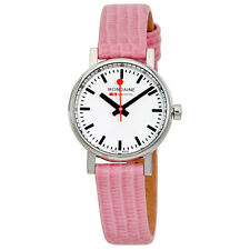 Mondaine Evo Petite Ladies Pink Lizard Watch A658.30301.11SBP