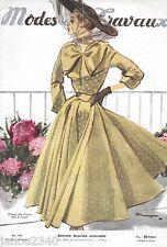 RARE!MODES et TRAVAUX n° 569/Mai 1948/Mode vintage grands couturiers