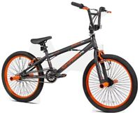 Kent 20 Inch Chaos BMX bike Matte Gray Orange Front & Rear Caliper Hand Brake