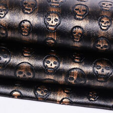 A4 Skull PU Leather Fabric Quilting Sewing Craft Patchwork Cloth Sofa Material