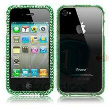 FOR iPHONE 4 4G 4S GREEN DIAMOND HARD CRYSTAL BUMPER CASE BLING DIAMANTE COVER