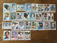 1982 KANSAS CITY ROYALS Topps COMPLETE Baseball Team Set 28 Cards BRETT WILSON!